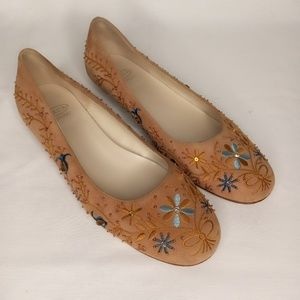 Circa JOAN & DAVID Embroidered Shoes Sz 7.5M